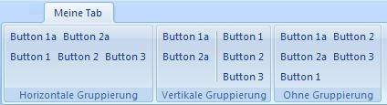 Gruppierte Controls
