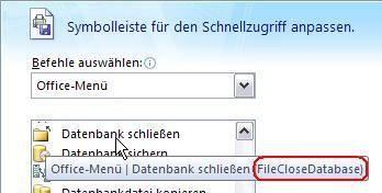 idMSO eines Ribbon Controls